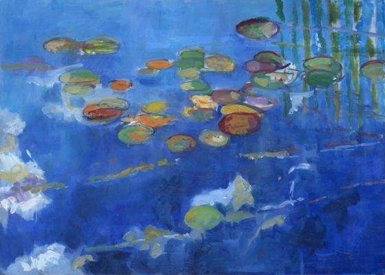 Blue Appletree Pond 60x90