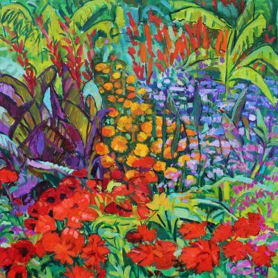 Bright Garden 90x90cm