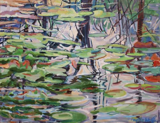 Cool Pond Reflected 70x90
