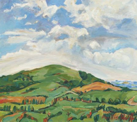 Melbury from Frenchmill oil on board 80x90