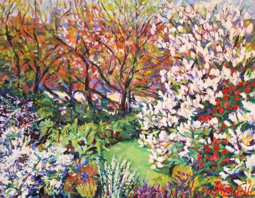 Spring Garden in Shaftesbury 55x75