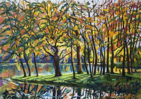 Stourhead Reflections II oillinen 70x100cm