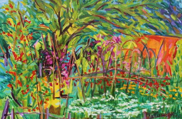 Vegetable Garden and Coriander Flowers 60x90