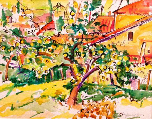 Vitrac Orchard I  25 x 35