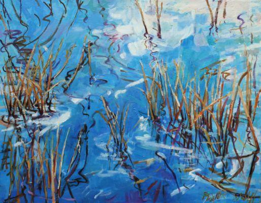 Winter Pond III 74x95